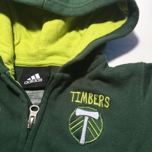 Portland Timbers 18 Month Green Zip Up Hoodie